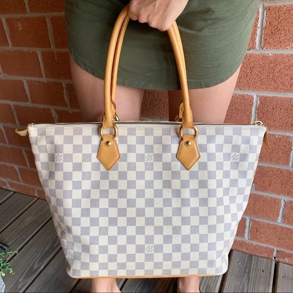 Louis Vuitton Handbags - Louis Vuitton Saleya MM Damier Azur Shoulder Bag